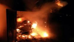 В Витебске сожгли коттедж (фото)